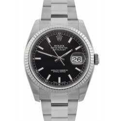 Rolex Datejust Black/ Index Dial Oyster Bracelet 116234