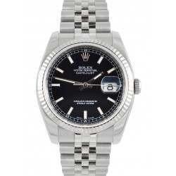 Rolex Datejust Black/ Index Dial Jubilee 116234