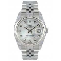 Rolex Datejust White mop/Diamond Jubilee 116234