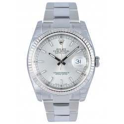 Rolex Datejust Silver/index Oyster 116234