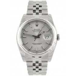 Rolex Datejust Silver/index Jubilee 116234