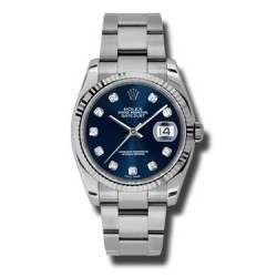 Rolex Datejust Blue/Diamond Oyster 116234