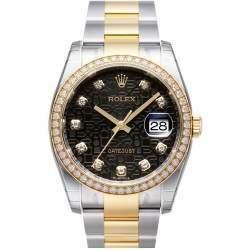 Rolex Datejust Black Jub/Diamond Oyster 116243