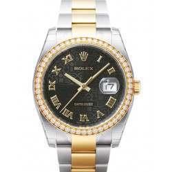 Rolex Datejust Black Jub Roman Oyster 116243