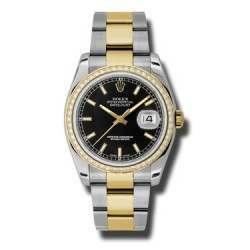 Rolex Datejust Black/index Oyster 116243
