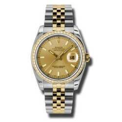 Rolex Datejust Champagne/index Jubilee 116243