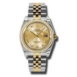 Rolex Datejust Champagne Roman Jubilee 116243