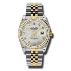 Rolex Datejust White mop/Diamond Jubilee 116243