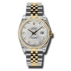 Rolex Datejust Silver/Diamond Jubilee 116243