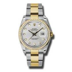 Rolex Datejust Silver/Diamond Oyster 116243