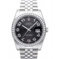 Rolex Datejust Black Arab Concentric Jubilee 116244