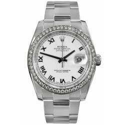 Rolex Datejust 36mm White Roman Dial 116244