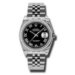 Rolex Datejust Black Roman Jubilee 116244