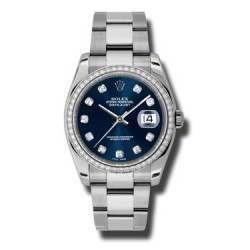 Rolex Datejust Blue/Diamond Oyster 116244
