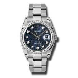 Rolex Datejust Blue Jub/Diamond Oyster 116244