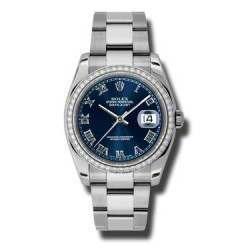 Rolex Datejust Blue Roman Oyster 116244