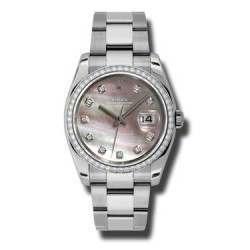 Rolex Datejust Black mop/Diamond Oyster 116244