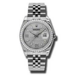 Rolex Datejust Rhodium/Diamond Jubilee 116244