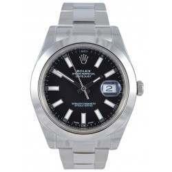 Rolex Datejust II black indexes Oyster bracelet 116300