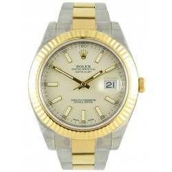 Rolex Datejust II Ivory/index Oyster 116333