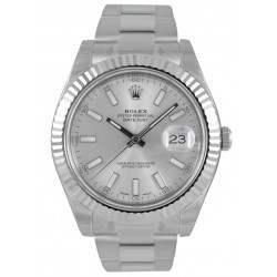 Rolex Datejust II Silver/index Oyster 116334