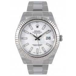 Rolex Datejust II White/index Oyster 116334