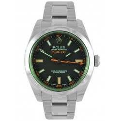 Rolex Milgauss Black Dial Green Glass Oyster 116400GV
