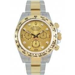 Rolex Cosmograph Daytona Steel & Gold Champagne/8 Diamond 116503