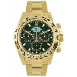Rolex Cosmograph Daytona Yellow Gold Green/ Index 116508