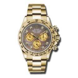 Rolex Cosmograph Daytona Gold Crystals/8 Diamond 116508