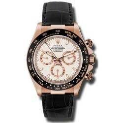 Rolex Cosmograph Daytona Everose Ivory Dial Leather 116515LN