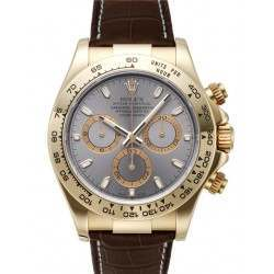 Rolex Cosmograph Daytona 18ct Yellow Gold Steel/index Leather 116518
