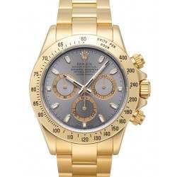 Rolex Cosmograph Daytona 18ct Yellow Gold Steel Dial 116528
