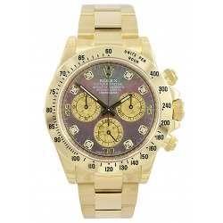 Rolex Cosmograph Daytona Gold Crystals/8 Diamond 116528