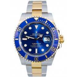 """""""As New"""" Rolex Submariner Steel and Yellow Gold Blue Dial 116613LB"""