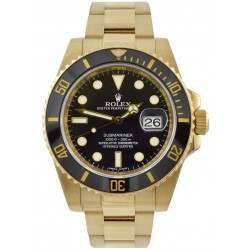 Rolex Submariner 18ct Yellow Gold Black Dial 40mm 116618LN