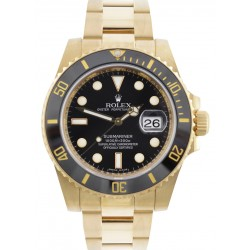 Rolex Submariner 18ct Yellow Gold Black Dial 116618LN