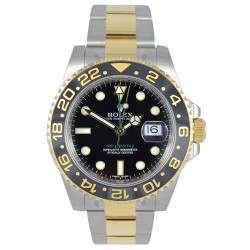 Rolex GMT-Master II Steel and Gold Black dial 116713LN