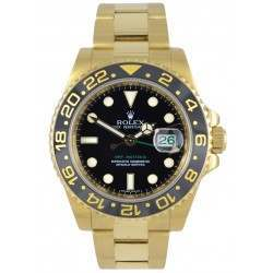 Rolex GMT-Master II 18ct Yellow Gold Black/index 116718LN
