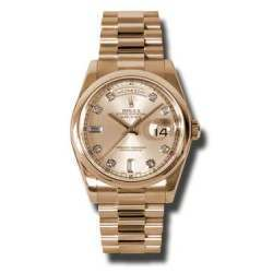 Rolex Day-Date Pink/Diamond President 118205