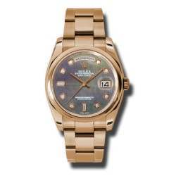 Rolex Day-Date Black mop/Diamond Oyster 118205