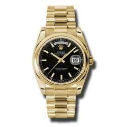 Rolex Day-Date Black/index President 118208