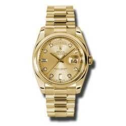 Rolex Day-Date Champagne/Diamond President 118208