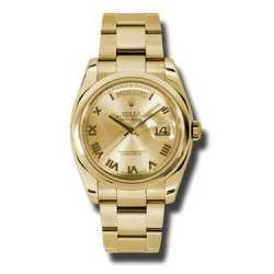 Rolex Day-Date Champagne Roman Oyster 118208