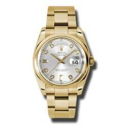 Rolex Day-Date Silver/Diamond Oyster 118208