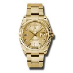 Rolex Day-Date Champagne/Diamond Oyster 118238