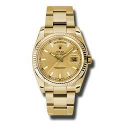 Rolex Day-Date Champagne/index Oyster 118238