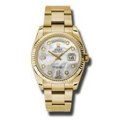 Rolex Day-Date White mop/Diamond Oyster 118238