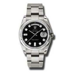 Rolex Day-Date Black/Diamond Oyster 118239