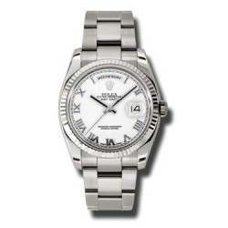 Rolex Day-Date White Roman Oyster 118239